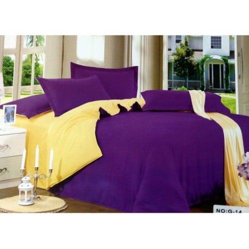 Lenjerie de pat în două culori din finet