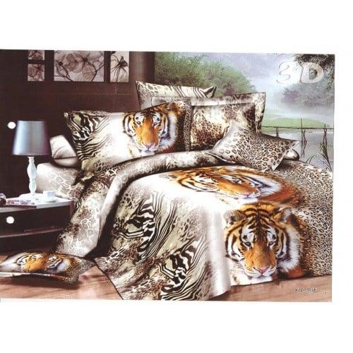 Lenjerie de pat cu Tigri - 3D