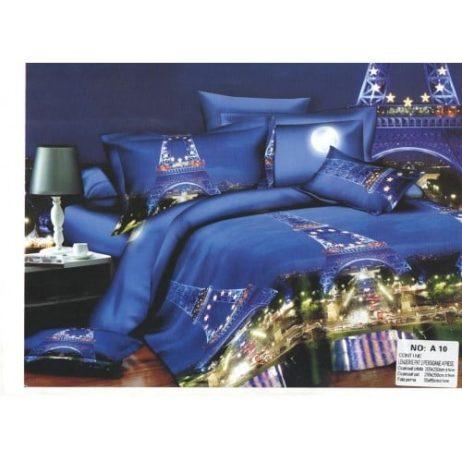 Lenjerie de pat cu Turnul Eiffel - 3D