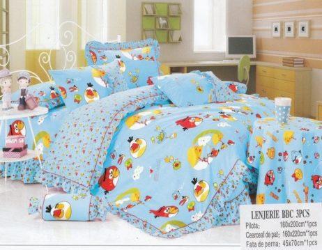 Lenjerie de pat pentru copii cu Angry Birds